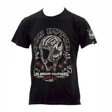 Von Dutch Men's Helmet LA Black Oil Wash Crew Neck Short Sleeve T-Shirt Sz: L