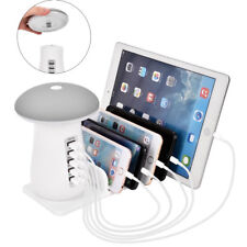 5 Port USB Charging Station Dock Stand Desktop Charger Hub for IPhone Tablet New
