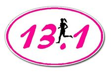 13.1 Marathon GIRL Runner Euro Oval Car Decal / Sticker