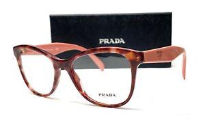 PRADA VPR 12T UE0-1O1 Pink Havana Demo Lens Women's Eyeglasses 51mm