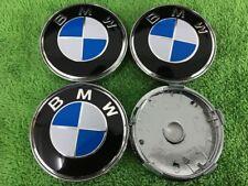 BMW Roues En Alliage Bleu Center Caps Set (4) visage 60 mm clip 58 mm
