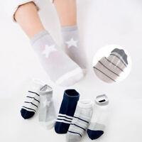 5 Pairs Toddler Baby Boys Socks Crew Walkers Ankle Grip Socks Breathable