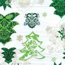 Cotton Fabric  Fat Quarter - Benartex - Christmas Tree White With Metallic