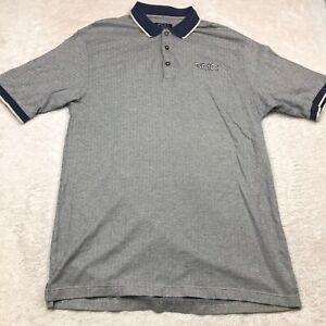 Port Authority Polo Golf Shirt Embroidered GMC Logo Gray Chevron Size XL