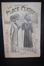 """Catalogue Magasin """"A la place Clichy"""" vêtement meubles accéssoires 1909-1910"""