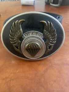 Mens Diesel Leather Belt Size 34