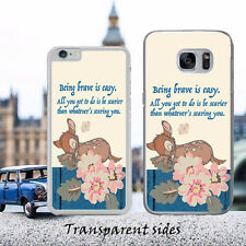 Disney Bambi Brave Quote Phone Case Cover