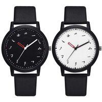 Simple Style Men Male PU Leather Analog Watch Quartz Movement Casual Wrist Watch