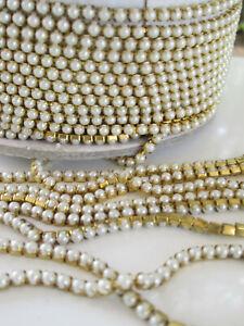 Perlen Hochzeit Kleid Band Tanzend Kostüm Rand Perlen Braut Kette 1 M