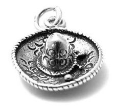 925 Sterling Silver 3D Mexican Sombrero Charm