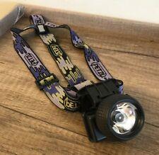 Vintage PETZL Micro Zoom HEADLAMP Headlight Purple Gray Strap Water Resistant