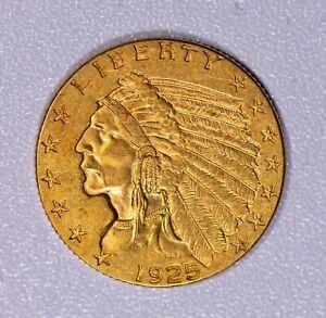 1925 D $2.50 Gold Indian Quarter Eagle Item#J7276