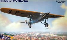 Valom Models 1/72 FOKKER F.VIIb/3m Dutch Transport