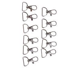 10pcs/set Silver Metal Lanyard Hook Swivel Snap Hooks Key Chain Clasp Clips HL