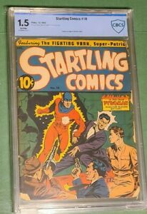 Startling Comics (1940) #18 CBCS 1.5 1st Pyroman/Origin. Rare, HTF. 10 in Census