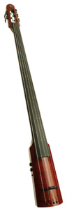 NS Design WAV Series 5-String Upright Electric Bass - Red