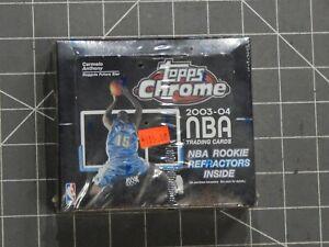 Factory Sealed 2003-04 03 2004 Topps Chrome Basketball Box NBA 24 Packs Of 4