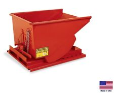 FORKLIFT HOPPER / DUMPSTER Industrial - Self Dumping - 1/4 CY - 6000 Lb Cap SDO