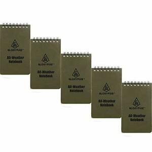 """All Weather EDC Pocket Memo Notebook Waterproof Paper Notepad 3"""" x 5"""" Pack Of 5"""