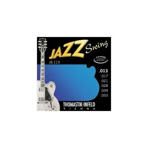 NEW Thomastik JS113 Jazz Swing Flatwound 13-53 Electric Guitar Strings UK SELLER