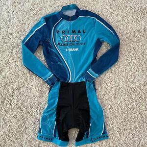 PRIMAL Cycling Racing Skinsuit Womens Large Long Sleeve Triathlon Padded