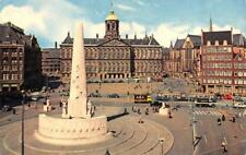 AMSTERDAM, Netherlands  ROYAL PALACE~NATIONAL MONUMENT  Trolley~Cars  Postcard