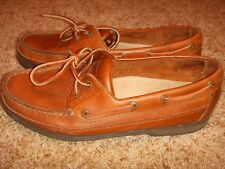 Rockport Brown Leather 2 Eye Boat Shoes M 5178 Mens Size 10M