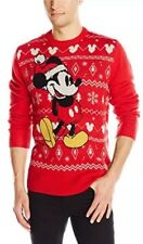 NEW Men Disney Mickey Mouse Ugly Christmas Sweater Holiday Long Sleeve Large