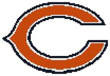Counted Cross Stitch Pattern, Chicago Bears Logo - Free US Shipping