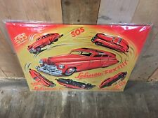 Schuco Toys Metal Tin Sign with Logo and American Car Fex 1111 SOS 50cm x 40cm