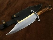 Custom Handmade 5160 Spring Steel Alamo Musso Bowie Knife with Bart Moore Guard