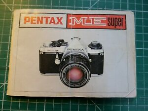 GENUINE PENTAX INSTRUCTION MANUAL FOR ME SUPER 35MM FILM CAMERA