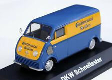 """DKW Schnellaster Typ F89L Bj. 1952-1962 """"Continental Reifen"""", M. 1:43, blau/gelb"""