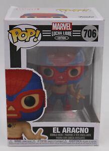 Funko POP! Marvel Lucha Libre El Aracno Spider-Man Vinyl Figure #706 Free Shipp