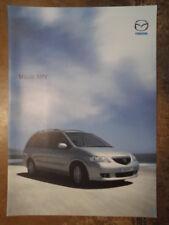 MAZDA MPV orig 2003 UK Mkt Sales Brochure