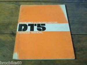 MANUEL REVUE TECHNIQUE D ATELIER SUZUKI HORS BORD DT 5 HP 1978->service manual