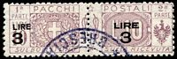 Regno d'Italia 1923/25 Pacchi Postali n. 23a usato (m2189)