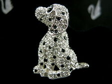 Signed Swarovski Pave' Crystal Puppy Dog Pin ~ Brooch Retired New With Tags