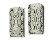 Flip Handy Tasche Etui Snake Schlange Magnet Muster Hülle für Apple iPhone 4 4S