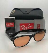 RAY-BAN Sunglasses RB 2132 6398/3L 55-18 NEW WAYFARER Black Clear+Yellow Mirror