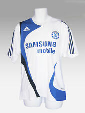 """ADIDAS CHELSEA FOOTBALL Player Issued Training Shirt White 44""""-46"""" USA L"""