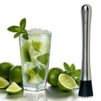 Cocktail Muddler Stainless Steel Handle Bar Mixer Barware Cock Mojito Drink P6E7