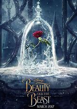 Beauty and the beast movie poster print 2017 A3 260gsm