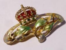 18ct Gold Enam Diamond Art Nouveau Brooch Edw Vii or George V Royal Presentation
