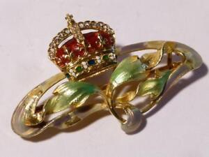 Edw VII or George V Royal Presentation 18ct Gold Enam Diamond Art Nouveau Brooch