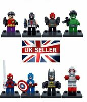 8 X MINI FIGURES FIT LEGO MARVEL DC MINIFIGS 2019 NEW SET UK SUPER HEROES BLOCKS