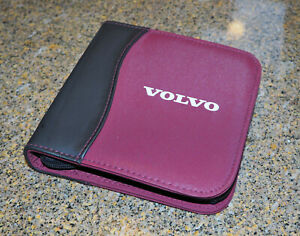 OEM Volvo CD DVD Holder Carrying Case Pouch Brand New Rare!! Black & Red