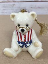 Lenox Teddy's 100th Anniversary Patriotic Bear Ornament