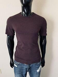 Lululemon Short Sleeve Antique Maroon Crewneck T-Shirt Size Small