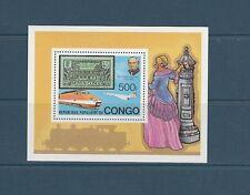 Congo république bloc Rowland Hill  TGV  Concorde 1979 num: BF 19 **